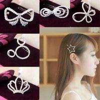 Wholesale Wedding Bangs - Bridal Hair Accessories Crown pearl hairpins Bangs clip Frog clip fashion jewelry hairpin hair clip for women hair jewelry 170273