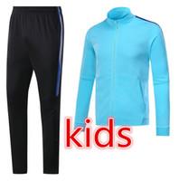 Wholesale Teen Xxl - top quality kids jacket 2017 2018 teens soccer jackets messi suarez pique neymar jr tracksuit jacket Sweatshirt free shipping