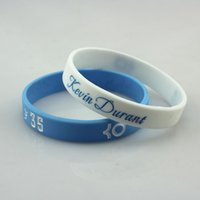 Wholesale Energy Power Band Bracelet - Luminous Silicone Bracelet Basketball Star Kevin Durant Wristband gym energy power bracelet white wrist bands glow at night