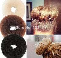 Wholesale Hair Donut Sizes - New Hair Accessaries Foaming Ball Shape Hair Bun Ring Donut Shaper Former Sponge Maker Tool 3 Size