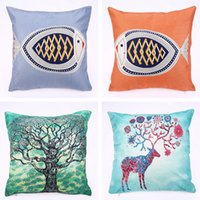 Wholesale spotted pillows for sale - Group buy Hot Pillowcase Cushion Cover Manufacturers Spot Direct Cartoon Cotton Pillow Cover Home Decor Mulitcolor Pillow Case