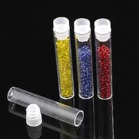 """Wholesale Plastic Storage Beads - Wholesale-20PCs Plastic Storage Container Beads Rhinestone Column Transparent 2 5 8""""x 4 8"""" (4.2ML)"""