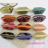 Wholesale Small Silk Jewelry Bags - free shipping 20pcs Chinese style restoring ancient ways wing packages gift bag Jewelry bag Small change purse key pouch