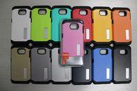 i6 artı kutular elma toptan satış-SlimTough Zırh Telefon Kılıfı için Standı samsung Galaxy S6 S6 kenar Not 4 Kılıf Perakende Paketi Ile iPhone 6 i6 Artı Durumda 100 adet Ücretsiz Kargo