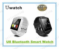 телефоны s4 оптовых-U8 Smart Bluetooth часы Наручные часы U8 U часы для iPhone 4/4S/5 / 5S Samsung S4/S5 / примечание 2 / Примечание 3 HTC Android телефон смартфоны MQ50
