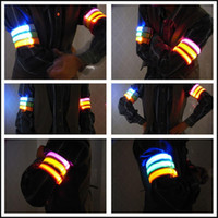 Wholesale Nylon Lumineux Decorations Armbands Night Reflective Wristband LED Bracelet Glow in the Dark Party Supplies Events Favors L006