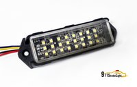 Wholesale Cheapest Led Warning Lights - Cheapest Vehicle Strobe Warning Light, 0.2w 24 PCS LED, Slave Surface Mount Lighthead, 12V DC.