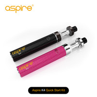 Wholesale Quick Single - Original Aspire K4 Quick Starter Kit 2000mah Bottom Vertical Coil Aspire Vape Pen Vaporizer E Ciggarette Start Kit TPD vs smok stick v8