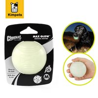 Dobola Soft Rubber Pet Glow Dog Ball Toys Night Safety Led Мигающий свет Светильники для домашних животных Большой пес-пестрый писк Squeaky Toys