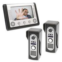 Wholesale Intercom Video Doorbell Two - One To Two Metal 7 Inch Wired Video Door Phone Intercom System Access Control Video Doorbell