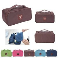 Wholesale Travel Wardrobe - Wholesale-Portable Protect Bra Underwear Lingerie Case Travel Organizer Bag wardrobe organizer Waterproof travel accessories BH-3