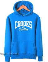 Wholesale New Castle Brown - Wholesale-2015 new stylist man men male Crooks And Castles Hoodies sport Hiphop jersey sweatshirt hiphop street dance Top