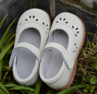 Wholesale Eco Leather - baby girls shoes new leather mary jane spring autumn white pink eco-friendly nonslip sole kids walker shoes little girls shoes flats