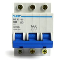 Wholesale Chint DZ47 P C50 A mini miniature circuit breakers for household protection breaker switch chopper
