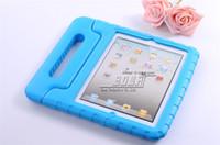 samsung i̇çin tab4 tablosu toptan satış-Darbeye Dayanıklı Köpük EVA Çocuk Çocuklar Şok Proof Vaka Sapı iPad 2/3/4/5/6 ipad hava 2 ipad mini 1/2/3 için samsung tab4 T230 T330 T530