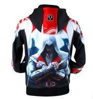 Wholesale Cool Assassins Creed Hoodies - Wholesale-Winter Cool Men Game Assassin Creed Character Edward Kenway Ezio Hoodie Jacket Cosplay Cotume