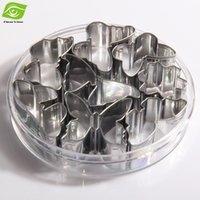 8pcs / Set Stainless Steel biscoito Mold borboleta bolo Mold Tools cozimento do Mold Cutter, dandys