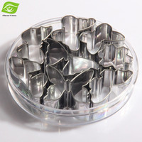 Wholesale Set Butterfly Mold - 8pcs Set Stainless Steel Cookie Mold Butterfly Cake Mold Baking Tools Cookie Mold Cutter, dandys