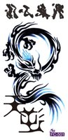 Wholesale-FC2501 Large Tattoo-Aufkleber Männer Rücken Schulter Hippy-Tattoos Sticker Body Art Chest Wasser-Übergangs Fake Tattoo Drache