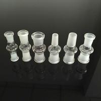 en utilisant des bangs achat en gros de-Adaptateur en verre mâle à mâle ou femelle en femelle convertisseur 14.5mm-18.8mm utiliser pour bong en verre bang pipe à eau en verre Dab rig