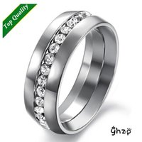 Wholesale Engagement Diamond Ring Price - Hot sale! Wholesale Price Fashion Boutique Rings For Men Titanium Steel with AAA+ CZ Diamond Big Size Ring
