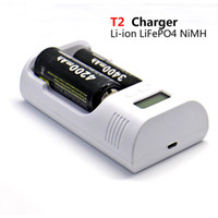 Wholesale Soshine Lcd Universal Charger - NEW Soshine T2 LCD Universal Charger for 26650 18650 C AA AAA Battery charger (3.7v 3.2v 1.2v) Free shipping