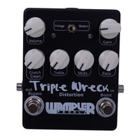 Wholesale Black Silver Triple Wreck high gain distortion pedal Hand Built Guitar Effect Pedals MU0376