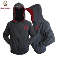 assassins creed hoodie colors al por mayor-Al por mayor-Nuevo llega la moda personalizada Cosplay traje sudaderas con capucha sudaderas Assassins Creed 4 Hoodies Jackets de los hombres 3 colores