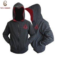 ingrosso assassini creed hoodie colori-All'ingrosso-Nuovo arriva in modo personalizzato Costume Cosplay Felpe con cappuccio Felpe da uomo Assassins Creed 4 Hoodies Giacche 3 colori