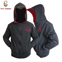 suikastçilerin inançlı hoodie renkleri toptan satış-Toptan-Yeni Gelmesi Kişiselleştirilmiş Moda Cosplay Kostüm Hoodies Sweatshirt Erkekler Assassins Creed 4 Hoodies Ceketler 3 Renk
