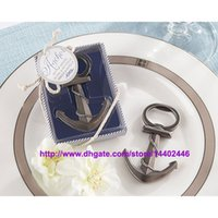 Wholesale Beach Wedding Shower Favors - Fast DHL Free shipping 60pcs lot Wedding favor Beach favors Anchor Bottle Opener Favor Wedding Shower Party Gift Wedding Party Gifts Gift