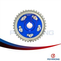 Wholesale Engine Timing - PQY STORE-Adjustable Cam Gear Alloy Timing Gear FOR HONDA SOHC D15 D16 D-SERIES ENGINE CAM PULLEY PULLYS GEAR BLUE 1PCS PQY6542B