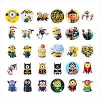 Wholesale Despicable Charms - newest Despicable Me snap button jewelry charm popper for bracelet 30pcs   lot GL037 noosa,jewelry making supplier
