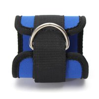 Wholesale Resistance Straps For Exercise - New Arrival Black Blue Ankle Anchor Strap Pad Durable for Resistance Bands Leg Tubes Fitness Exercise Strength Training order<$18no track
