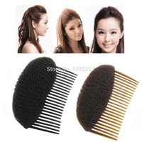 Wholesale Bump Comb Hair - C1pc Hair Styler Volume Bouffant Beehive Shaper Roller Bumpits Bump Foam On Clear Comb Xmas Accessories WF32 order<$18no track