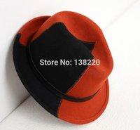 Wholesale Australian Hat For Men - Wholesale-new 2015 Australian wool hat Sir Splicing leather buckle hats for women and men leisure cap