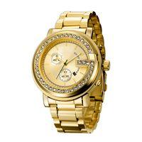 Wholesale Crystal Gift Clock - Crystal G Style Luxury Fashion Women Elegant Wristwatch Quartz Movement Gift Female Watch Clock Wholesale