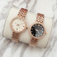 Wholesale lady items - 2017 Hot Items Luxury women watch with shine Diamond OM date Fashion Classic lady dress watch with logo brand Jewelry buckle drop shipping