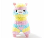 ingrosso giapponese kawaii peluche-Hot Rainbow Alpaca giocattoli peluche Kawaii Alpacasso farciti giocattoli giapponesi peluche giocattoli per bambini regalo per bambini