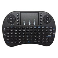 Wholesale Keyboard Hebrew - Mini Wireless gaming keyboard i8+ 2.4G English Hebrew Russian With TouchPad Mouse for Tablet Mini PC