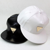 Wholesale Hater Leather Snapback - New fashion casquette trucker hater snapback unisex leather baseball caps cappelli hip hop for men women