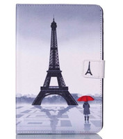 Wholesale Tab Cartoon Cover - For Samsung T350 Case Cover Wallet Stand Cartoon Luxury Original Cute Flip Leather Case For Samsung Galaxy Tab A 8.0 T350 T351