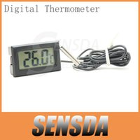 Bimetal Thermometer Industrial Yes Free Shipping Wholesale Mini LCD Digital Thermometer Hygrometer Fridge Freezer Temperature Humidity Meter