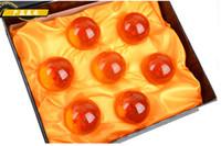 Wholesale Gift Box Animation - New animation dragonBall 7 stars Crystal Glass Ball set of 7pcs with Gift Box dragon ball