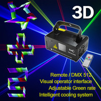 Gros-Nouvelle SUNY à distance DMX Effet 3D 400mW RGB Laser Show Lighting Scanner DJ Party LED Effet Projecteur Full Color Fantastique