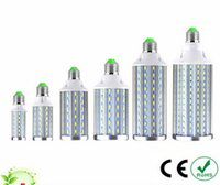 Wholesale E27 Watts - New Disign Full Watt E27 E14 10W 15W 20W Aluminum LED lamps 110V 220V 5730 SMD LEDs Corn Bulb For living Room lighting