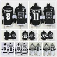 Wholesale Brand Los Angeles - 2018 New Brand Los Angeles Kings Hockey 8 Drew Doughty 11 Anze Kopitar 23 Dustin Brown 32 Jonathan Quick 77 Jeff Carter Jersey