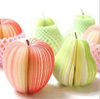 Unique Creative Apple en forme mignon 3D pomme poire papier Memo Pad Sticky Notes fruits bloc-notes, bloc-notes bloc-notes