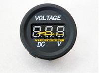 voltímetro de 12v para carro venda por atacado-Auto Peças Medidor de Volt Medidores de LED 12 V-24 V Motocicleta Carro À Prova D 'Água DC Display Digital Voltímetro Para Monitor