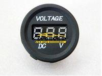 led voltímetro al por mayor-Medidor de voltios de piezas de auto LED 12V-24V impermeable para motocicleta DC monitor digital voltímetro para monitor